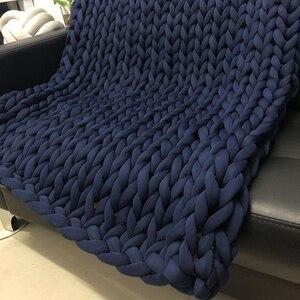 Image 5 - Новое ручное плетеное одеяло 24 м, круглая пряжа из крупной ткани, шерстяная пряжа для ручного вязания «сделай сам», домашняя антихолодная пряжа