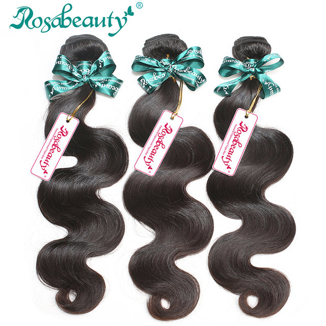Unprocessed Peruvian Virgin Hair Body Wave 100% Human Hair 3 Bundles Rosa Hair Products Peruvian Body Wave Shipping Free