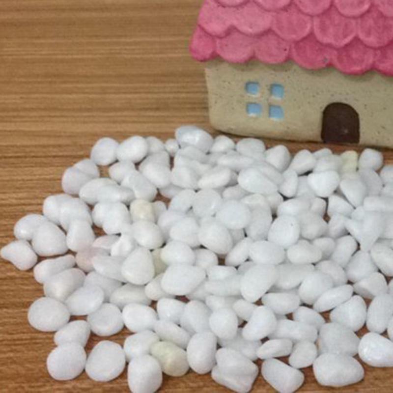 pack g blanco jade piedras de guijarros rocas miniatura jardn de hadas adornos paisaje decoracin