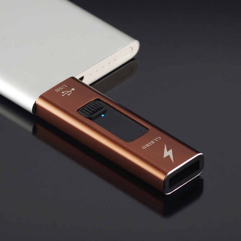 USB Cigarette Lighter Thin Arc Plasma Lighters Windproof Electronic Rechargeable Lighter for Smoking Flameless Gadgets for Men