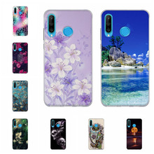 For Huawei P30 Lite Case Ultra-slim Soft TPU Silicone Cover Tower Patterned lite Shell Capa