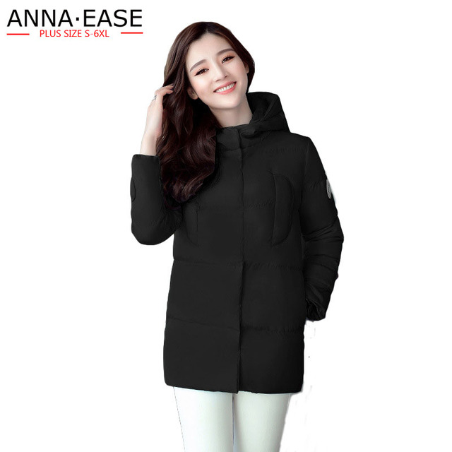 08a55110e52 Plus Size 6XL 5XL 4XL Women s Winter Down Jackets Black Winter Jacket  Winter Woman Coats 2018 Long Coat Women Cotton Coat Parka