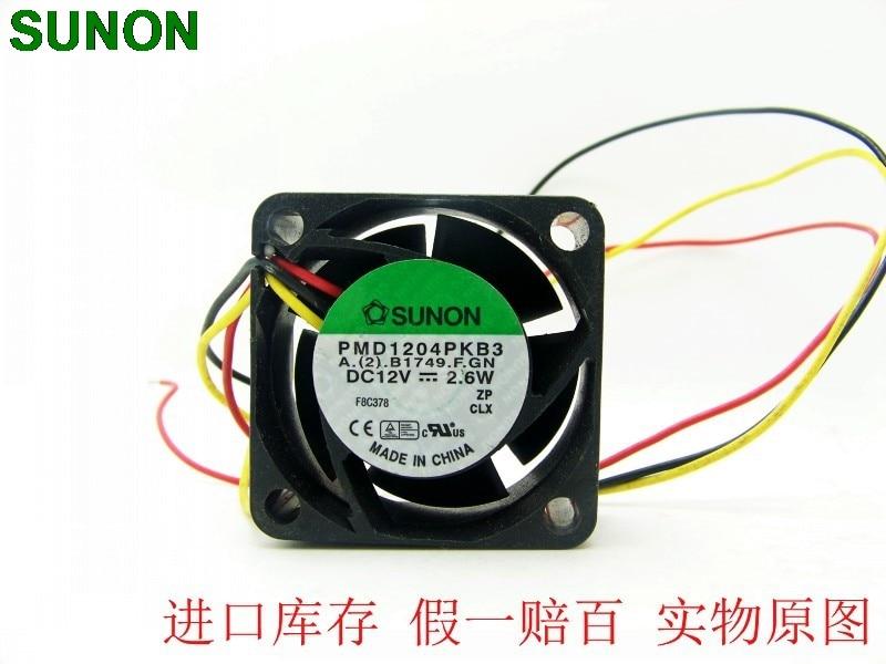 FOR SUNON PMD1204PKB3-A 12V 2.6W 4020 4CM cm Double ball temperature control fan