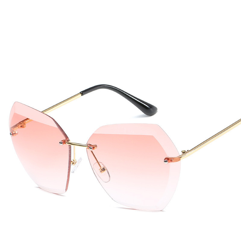 Luxury Vintage Rimless Sunglasses Women Brand Designer Oversized Retro Female Sunglass Sun Glasses For Women Lady Sunglass 2018 1