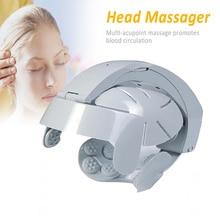купить Electric Head Massager Helmet Scalp Brain Relax Vibration Acupuncture Points Health Care Dropshipping по цене 1695.37 рублей
