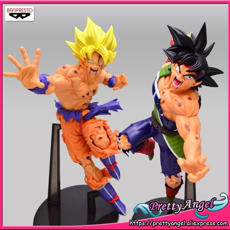 PrettyAngel Genuine Banpresto SCultures Big 5 Dragon Ball Z Kai Super Saiyan Goku Gokou Barduck Bardock
