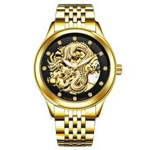 Tevise Men Mechanical Wristwatches Automatic Gold Dragon