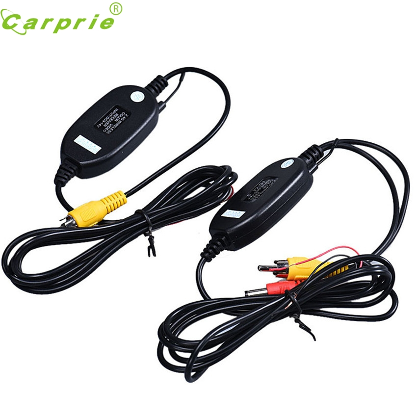 CARPRIE Wireless Transmitter Receiver For Car Reverse Rear View Camera Monitor 2.4GHZ Dropship #3O