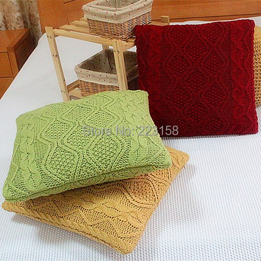 Full yarn knitted cushion pillow pp cotton inside for sofa cushion core