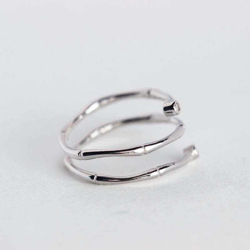 TOYOOSKY 925 ստերլինգ արծաթյա մատանի - Նորաձև զարդեր - Լուսանկար 5