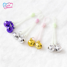 Adult Silicone Luminous Nipple Clamps With Skeleton Slide Fastener Shaking Bell Female Breast Clip Sex Toys For Woman DW-122