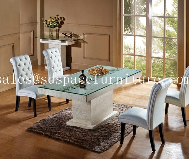High Top Dining Room Table: High End Dining Room Furniture Iran Natural Travertine
