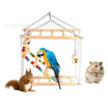 Игрушка попугай птица деревянная игрушка лестница для скалолазания