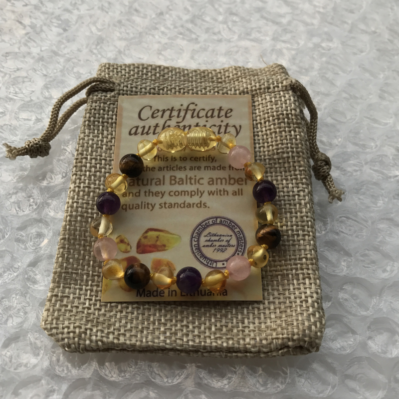 HTB1UUlNfMLD8KJjSszeq6yGRpXa2 Yoowei 9 Color Baby Amber Bracelet/Necklace Natural Amethyst Gems Adult Baby Teething Necklace Baltic Amber Jewelry Wholesale
