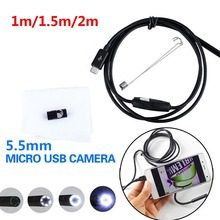 Ear Spoon Borescope Endoscope Inspection Computers Mobile Phones 5.5mm 6 LED Practical Portable USB Photos Real-Time Video купить дешево онлайн