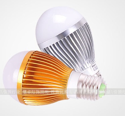 100 pcs/lot CREE E27 85V - 265V 9W (3 x 3w) Energy Saving Globe light LED Light Led Bulb Lamp DHL Free Shipping
