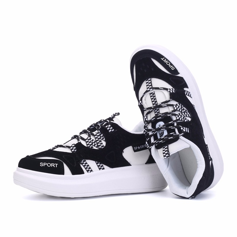 KUYUPP 2016 Autumn Fashion Women Flat Platform Shoes Sport Casual Shoes For Mens Trainers Lace Up Low Top Shoes Breathable YD111 (43)