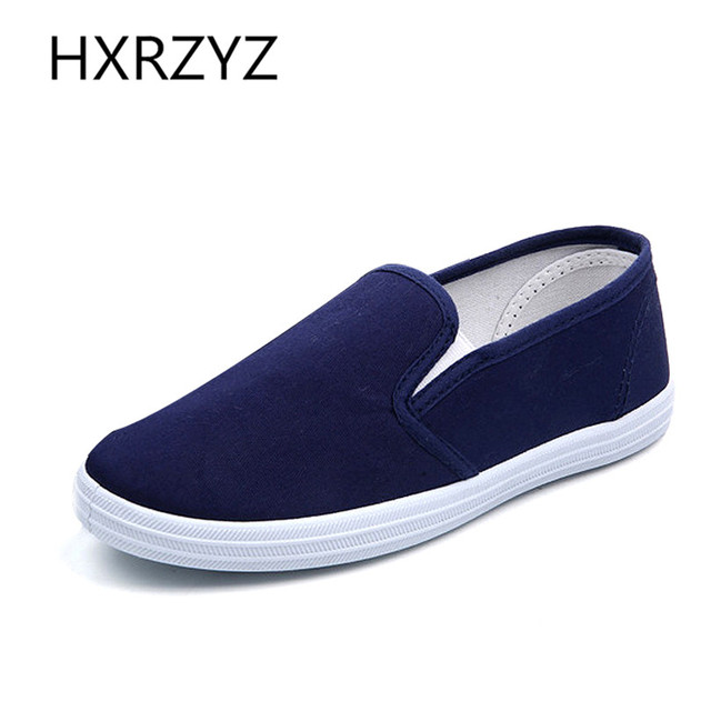 Size 40 Summer Solid Color Leisure Canvas Shoes Women Simple Breathable Comfortable Casual Shoes Ladies Slippers Zapatos Mujer