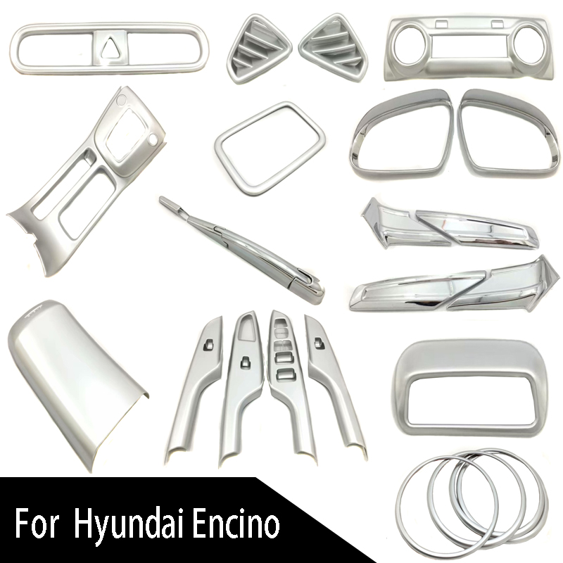 ABS Chrome Car-styling Cover Auto Accessories Chromium Styling Automobile Deco Set For Hyundai Kona Kauai Encino 2018 2019