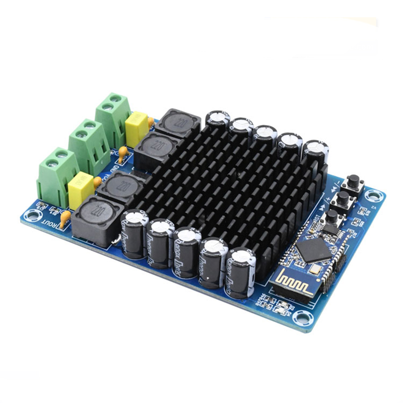 New TDA7498 4.1 HD bluetooth High power digital power amplifier Dual Channel 2*100W DC12-24V Amplifiers Audio Board цена