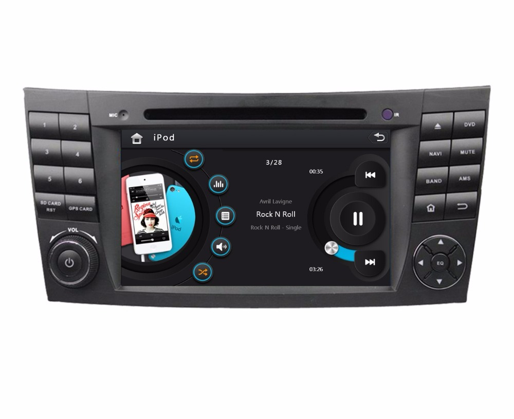 HD 2 din 7″ Car PC Radio DVD for Mercedes Benz E-Class W211 CLS W219 G-Class W463 With GPS Bluetooth IPOD TV SWC AUX IN