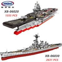 XINGBAO 06020/06030 Military Army Series The Aircraft Ship USS Missouri Battleship Sets Building Blocks Warship Bricks Juguetes