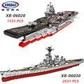 XINGBAO serie militar del ejército de 06020/06030 el barco de avión USS Misuri acorazado establece bloques de construcción de ladrillos de barco de guerra Juguetes