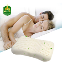 Nufoam N2 Thai Natural Latex Pillow Cotton Pillowcase Massage Pillow Beauty Shoulders Free Shipping