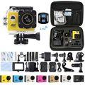 F60r 4 k remoto wi-fi câmera de ação 1080 p hd gopro sjcam estilo capacete cam 30 metros à prova d' água esportes dv câmera