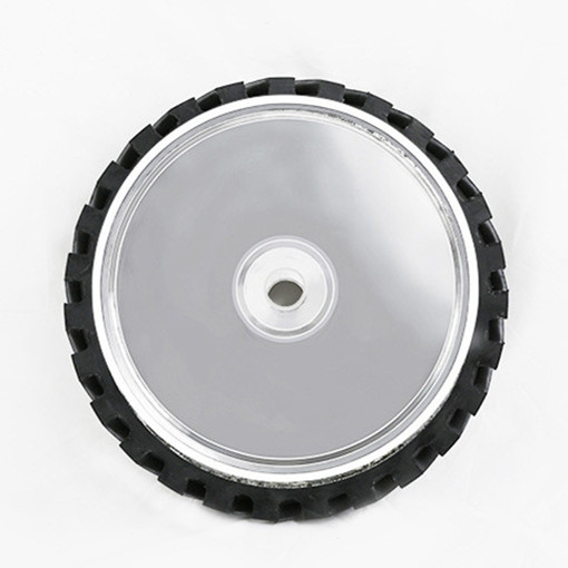 8 inch 50mm Thickness Serrated Rubber Contact Wheel Belt Sander Polishing Wheel Abrasive Belts Set 4 6 inch od diagonal rubber contact wheel belt grinder wheel abrasive belt set 50mm width