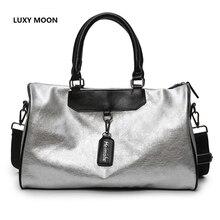 Top Quality PU Leather Handbag Women's Travel Duffel Bag Causal Male Duffle Shoulder Bag Large Capacity Crossbody Bags Tote