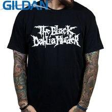 T Shirt Fashion  Cotton Men O-Neck Black Dahlia Shor Short Sleeve Shirts