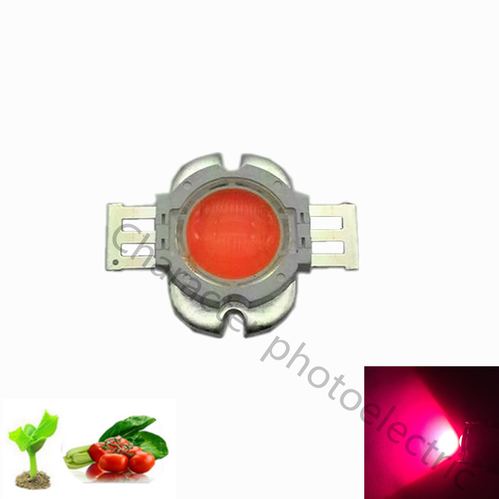High power 10W full spectrum 380 840nm SMD LED growth chip lamp 10W LED plant growth with 90 degree concentrating lens in Light Beads from Lights Lighting