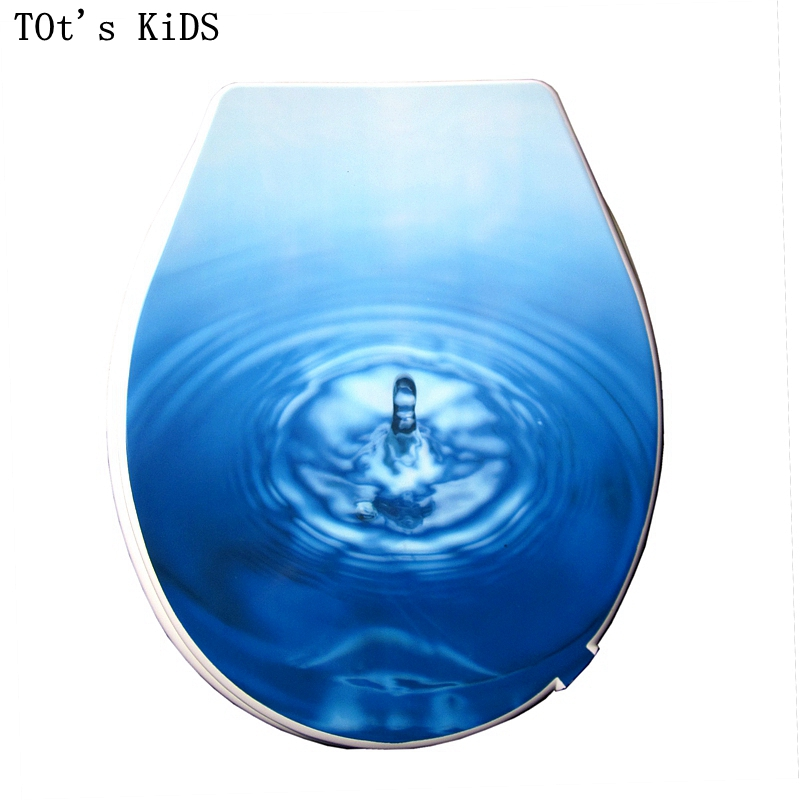 Hot Bathroom Colors 2017: Toilet Lid Cover 2017 High Quality Colorful Water Drop