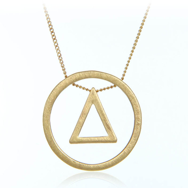 Wire Drawing Process Necklace & Pendant Triangle Big Round Design ...