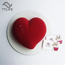 TTLIFE Non-stick Heart Shape Mousse Cake Mold Chocolate Fondant Jelly Pudding Confectionery Baking Dishes Dessert Tools