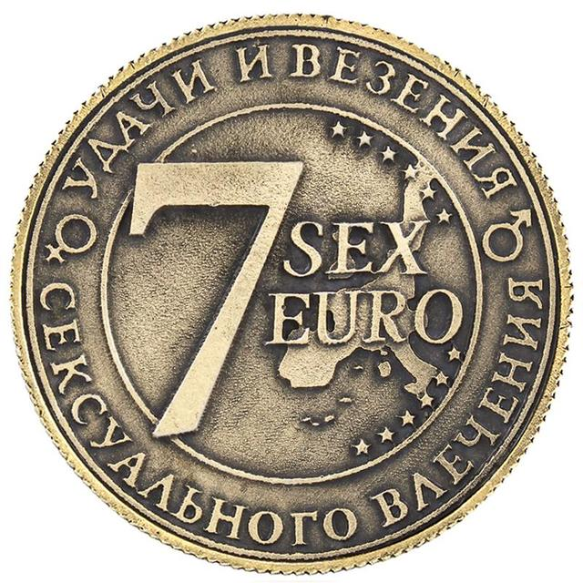 Russian euro copy coins 7 SEX EURO new year collectibles special Halloween  supplies