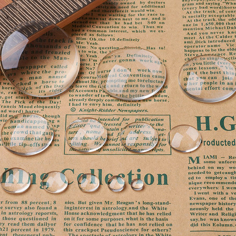 50pcs Round Clear Glass Cabochons Transparent Dome for Jewelry Making DIY Findings Pendant Cameo Settings 8 10 12 14 16 18 20mm(China)