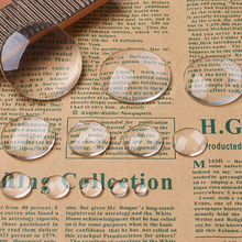 Cabochons Pendant Cameo-Settings Findings Clear Glass Jewelry-Making Dome Transparent
