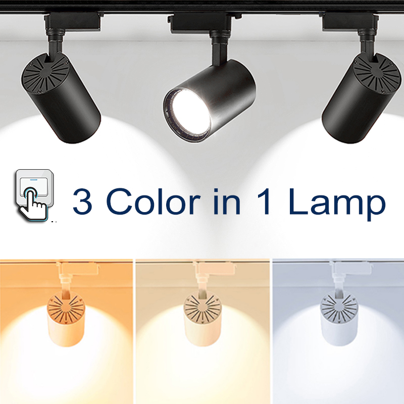 Dimmable Led Track Lights 40W Led Rail Light Track Spot Light Track Lighting for Shop Spotlight Rail Lamps Store Light