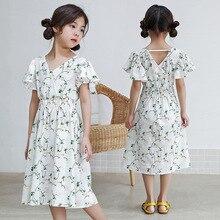 011561920e bohemian ruffles 2018 summer dress girl kids cotton clothes 6 8 10 12 years children  short