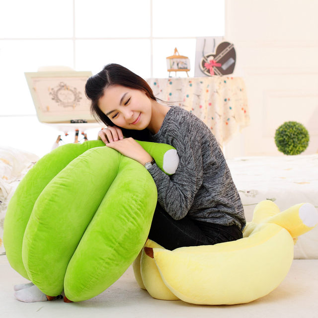 Online Shop Banana Soft Baby Pillow Doll Baby Toys Baby Sleep Bed ...