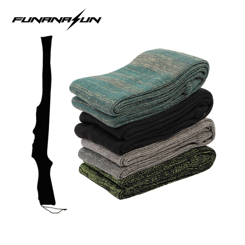 Airsoft Gun Sock Rifle/Pistol Knit FirearmSilicone Treated Handgun Protector Cover Bag Moistureproof Storage Sleeve Holster#