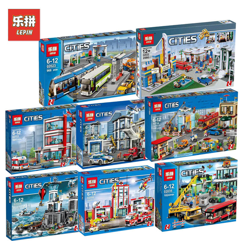Lepin City Sets 02006 02020 02022 02023 02035 02052 02113 02114 Compatible Legoing 60141 Model Building Kits Blocks Bricks Toys lepin 21004 ferrarie f40 sports car model legoing building blocks kits bricks toys compatible with 10248