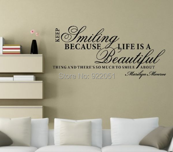 Charming Keep Smiling...0773 Wall Stickers Quote Small Smile Quote Family Wall  Sayings Wall