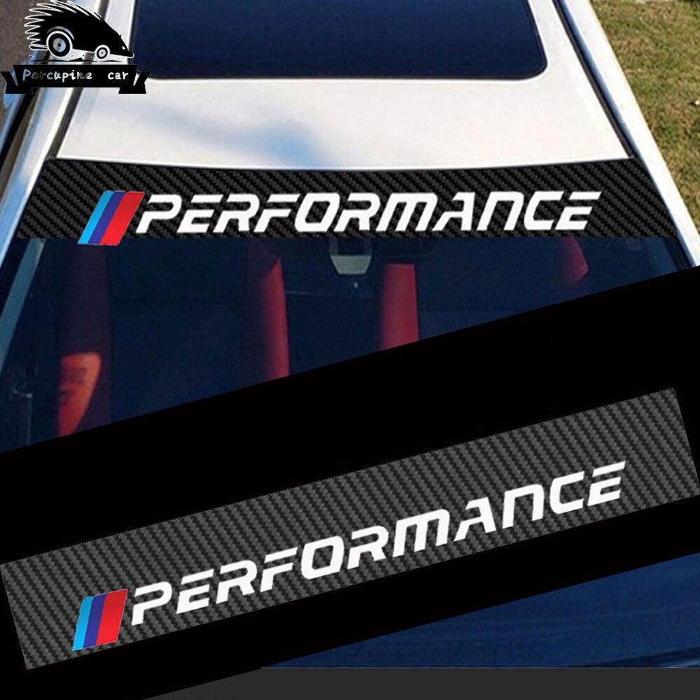 Sol Do Carro de Fibra De carbono etiqueta car windscreen windshield adesivos Para BMW M E46 E60 E39 E70 E83 E85 E90 F10 F20 F30 1 2 3 5 7