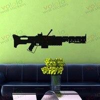 משלוח חינם חומר סיטונאי וקמעוני וול דקור pvc מדבקות קיר מדבקות טפט נשק אקדח c-140