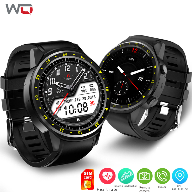 WQ F1 Montre Smart Watch GPS Montre Fitness Tracker Android Montre Soutien Sim Appel Reloj Inteligente Bluetooth Musique Caméra Smartwatch