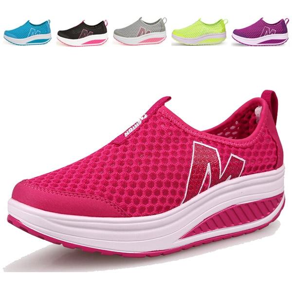delicate colors order online fashion Viaje exterior de mujer moda de malla transpirable Casual zapatos  deportivos mujeres antideslizantes para el deporte para mujer Sapatos  Femininos