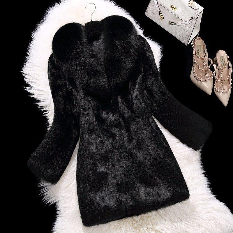 Con Gratuita 2 Natural 1 Lunga Spedizione Donne Pelliccia Fur Volpe Completa Di Collare Coat Pelt Giacca 3 Rabbit 4 x64XUrnw6Z
